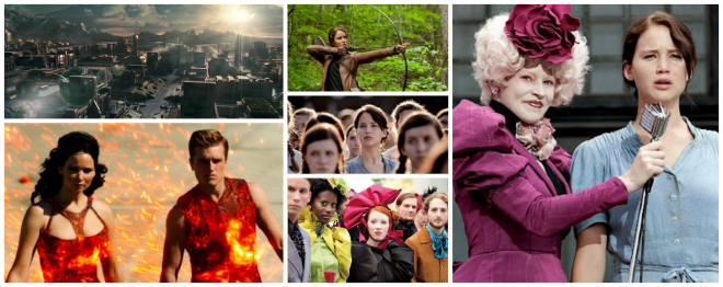 Effie, Katniss, Peeta di Hunger Games