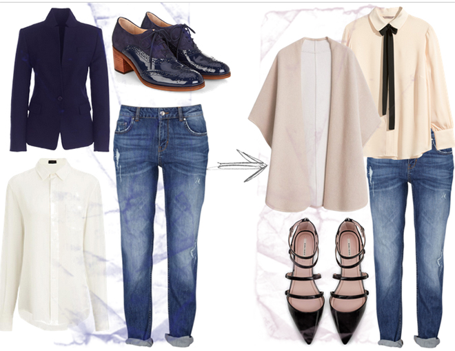 come rendere chic i jeans